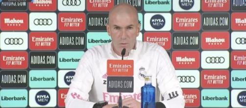 Zidane pousse un coup de gueule contre les journalistes - Photo capture d'écran Vidéo