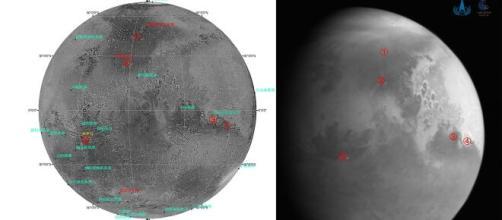 La sonda Tianwen-1 scatta la sua prima foto di Marte.