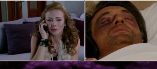 Renata consegue falar com Jerônimo. (Divulgação/Televisa)