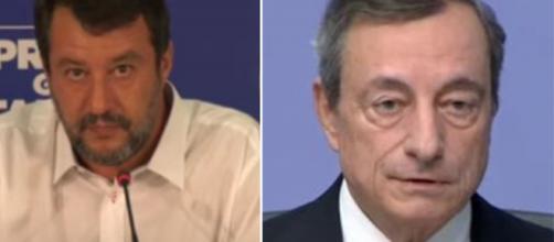 Matteo Salvini e Mario Draghi.