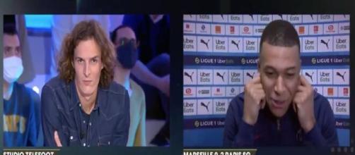 Mbappé et Paul de Saint-Sernin ont provoqué un fou rire sur Téléfoot. (Capture)