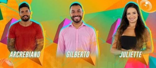 """Arcrebiano, Juliette e Gilberto estão no Paredão do """"BBB21"""". (Arquivo Blasting News)"""
