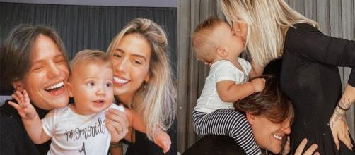 Gabi Brandt e Saulo Poncio celebraram o segundo filho do casal. (Arquivo Blasting News)
