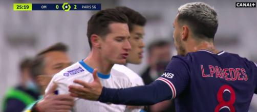 Insultes dans le tunnel après PSG / OM - ©capture d'écran vidéo Canal+