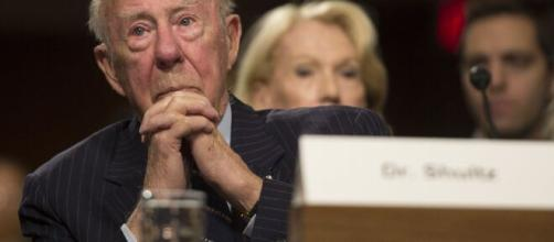 Longtime Reagan Secretary of State George Shultz dies at 100.(© Abcnews/Youtube)]