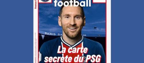 Leo Messi con la camiseta del PSG