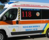 Un'ambulanza dei volontari del soccorso di Roma
