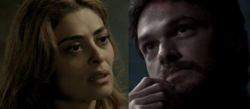 """Bibi e Rubinho têm discussão pesada em """"A Força do Querer"""". (Fotomontagem/Reprodução/Rede Globo)"""