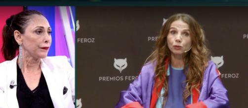 María Barranco ha criticado las declaraciones de su compañera Victoria Abril en el Deluxe de Telecinco (Twitter @DeluxeSabado)