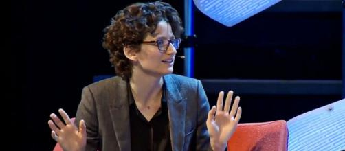 New York Times journalist Nellie Bowles discussed how Judaism was changing her approach to reporting (Image source: Techfest NW/YouTube)