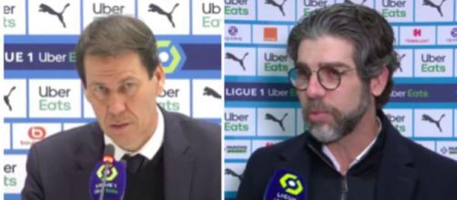 Rudi Garcia et Juninho se paye l'arbitrage après OM / OL - Photo montage captures d'écran vidéo