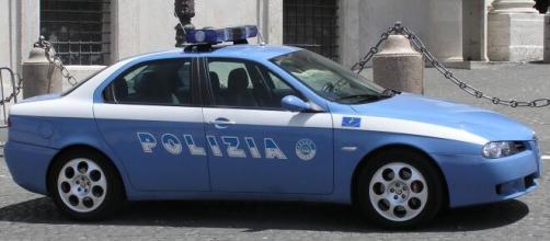 Una volante della Polizia, foto da archivio.