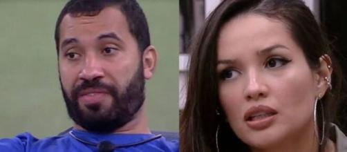 Gilberto e Juliette no 'BBB21' (Fotomontagem/Reprodução/Rede Globo)