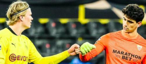 Haaland explique pourquoi il a chambré le gardien du FC Séville - Photo capture d'écran Twitter