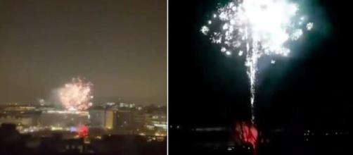 les supporters du PSG lance une feu d'artifice à 4 heures du matin - Vidéo réseaux sociaux
