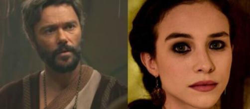 Terá e Sarai em 'Gênesis' (Fotomontagem/Reprodução/Record TV)