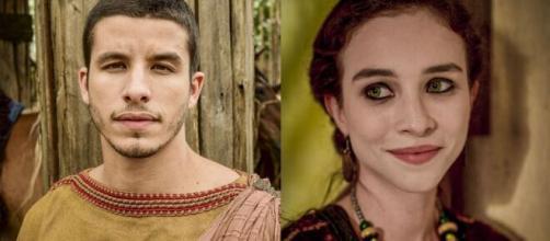 Harã e Sarai em 'Gênesis'. (Foto: RecordTV).