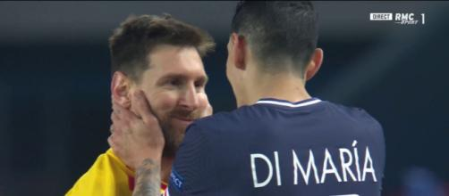 L'échange entre Angel Di Maria et Leo Messi fait le buzz - Photo capture d'écran Twitter RMC