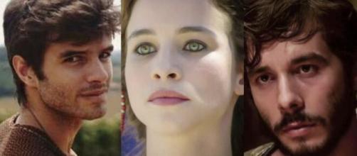 Naor, Sarai e Abrão em 'Gênesis'. (Foto: RecordTV).