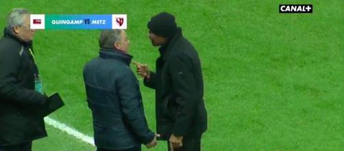 La vidéo entre Kombouaré et Hantz fait le buzz - Photo capture d'écran vidéo Canal Plus