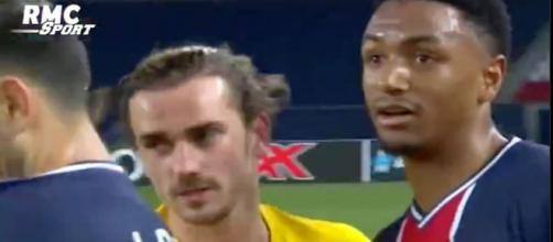 Antoine Griezmann et Abdou Diallo font le buzz sur Twitter. (capture)