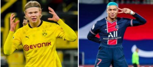 Le père d'Haaland confirme que son fils s'inspire de Kylian Mbappé - Photo captures d'écran Instagram des joueurs