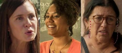 Thelma, Camila e Lurdes em 'Amor de Mãe'. (Fotomontagem)