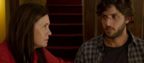 Thelma e Danilo em 'Amor de Mãe' (Reprodução/TV Globo)
