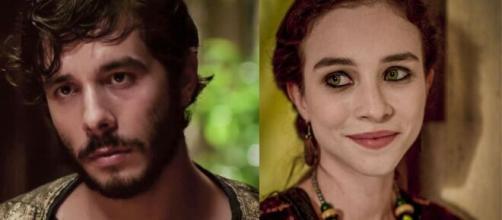Abrão e Sarai em 'Gênesis' (Fotomontagem/Reprodução/Record TV)