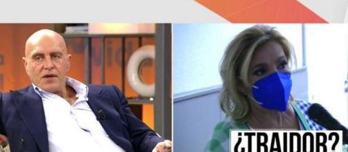 Carmen Borrego abandona el plató tras las insinuaciones de Matamoros (@VivaLaVidaT5)