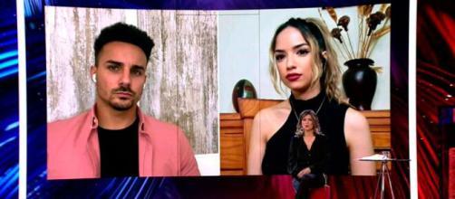 Lucía intervino en directo en 'El debate de las tentaciones' para explicar cómo se siente tras su ruptura con Manuel (Twitter @Telecincoes)