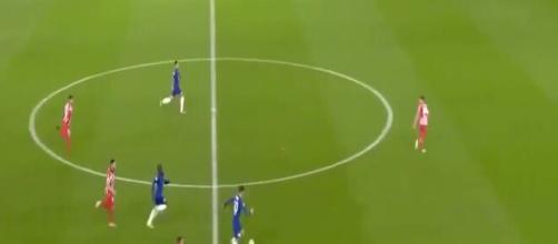 N'Golo Kanté a fait le buzz après un sprint phénoménal contre l'Atlético. (capture d'écran))