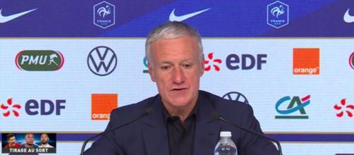 Didier Deschamps dévoile sa liste - Photo capture d'écran Conférence de Presse