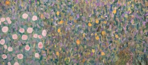 """Gustav Klimt (1862-1918) """"Rosiers sous les arbres""""."""