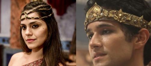 Shakia e Dnin-Sim em 'Gênesis'. (Foto: RecordTV).
