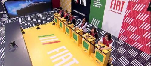 'BBB21': prova do líder tem xixi na roupa de Thaís e Rodolfo (Reprodução/TV Globo)