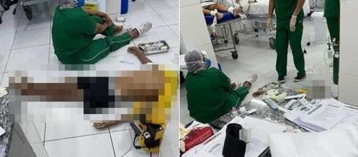 Com UPA lotada e sem maca, idoso morre após ser atendido no chão (Reprodução/Instagram)