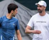 Novak Djokovic insieme a Goran Ivanisevic.