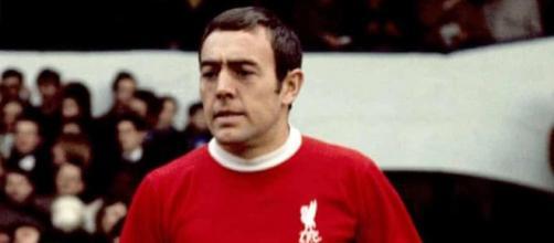 Ian St. John con la maglia del Liverpool negli anni '60.
