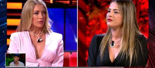La bronca de Mayka y Marta en el debate de 'La isla de las Tentaciones' (Twitter @Telecinco)