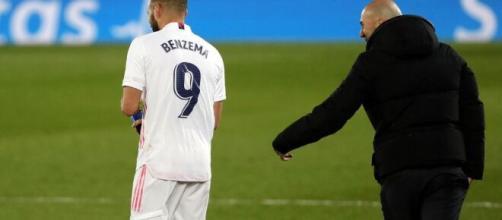 Screen compte Actu foot Benzema Zidane