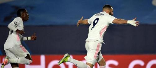 Benzema a porté les siens vers les quarts de finale - source : capture d'écran