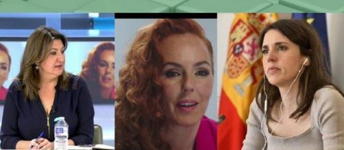 Irene Montero y otras políticas a favor de Rocío carrasco (Twitter @elprogramadear)