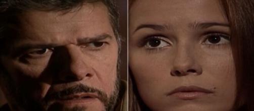 Pedro e Íris em 'Laços de Família' (Fotomontagem/Reprodução/Rede Globo)
