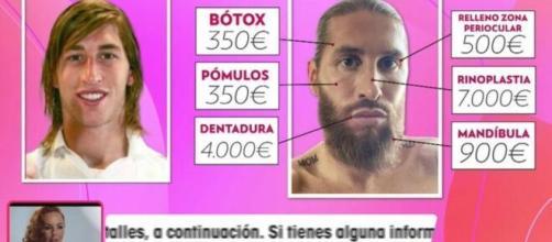 'Viva la Vida' ha sacado a la luz y ha analizado todos los retoques del jugador Sergio Ramos (Twitter @VivaLaVidaT5)