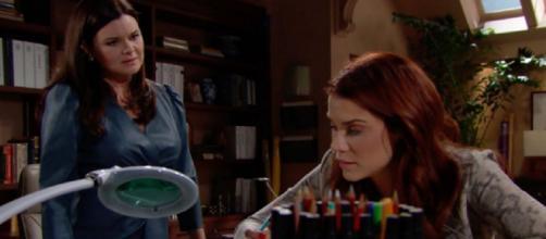Beautiful, Katie ferma Ridge e Steffy dal licenziare Sally dicendo che sta morendo.
