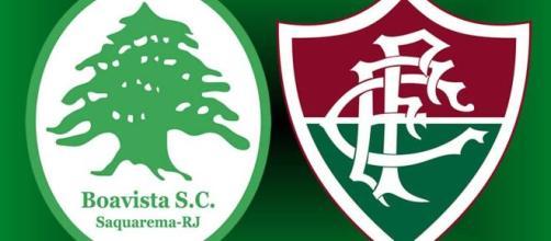 Boavista x Fluminense será nesta terça (23) (Fotomontagem)