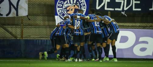 Grêmio se impôs, mas esbarrou na falta de experiência dos meninos (Lucas Uebel/Grêmio)