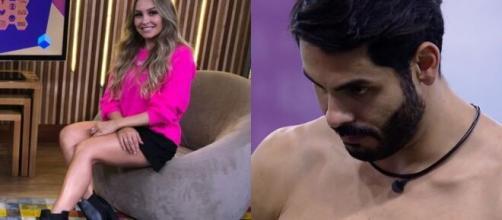 """A noite de terça-feira (23) foi marcada pela eliminação de Carla Diaz no """"BBB21"""" (Fotomontagem/Reprodução/Rede Globo)"""