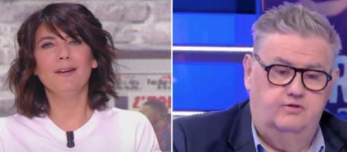 Estelle Denis a fait la polémique après sa réaction dans L'Equipe d'Estelle. (montage)